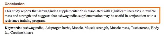 Ashwagandha increases muscle mass