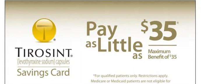 Tirosint savings card