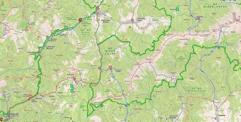 Keťka Kozí chrbát mapa