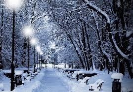 Foto di un paesaggio invernale