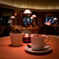 Cappuccino im Restaurant Zur Seebrücke