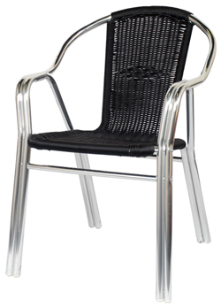 outdoor stackable chairs canada swivel office chair without wheels black rattan aluminum patio restaurant furniture