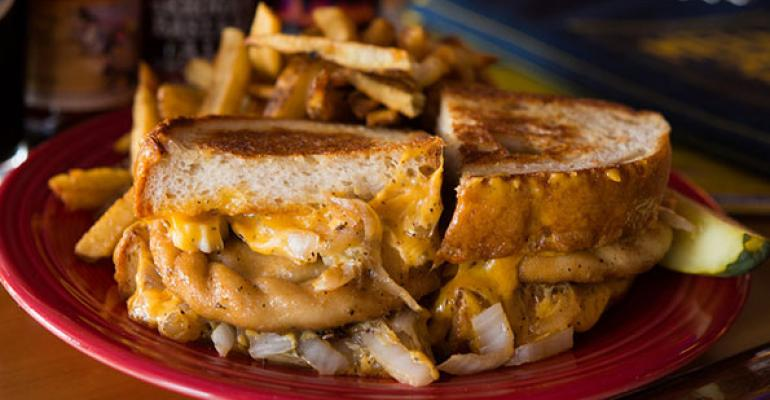 Melt Bar  Grilled stakes claim in grilled cheese space