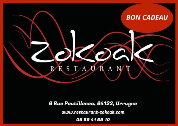 Carte Cadeaux - Restaurant Zokoak - Urrugne - Pays Basque