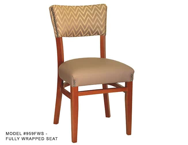 Heavy Duty Fully Upholstered Narrow Back Chair  Model 959
