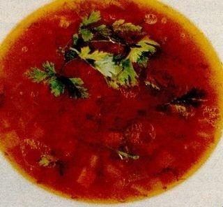 Supa de rosii cu zdrente si verdeata