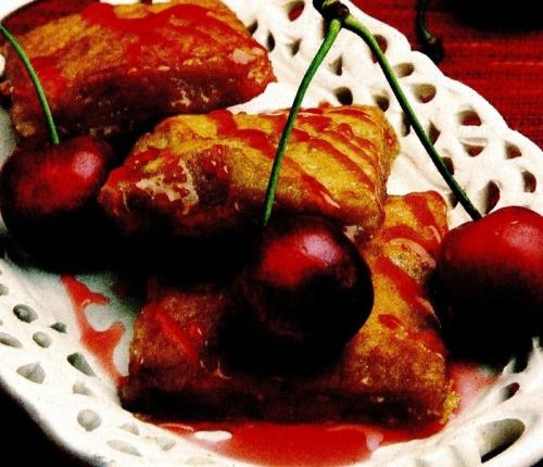 Biscuiţi cu miere si cireşe
