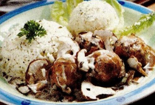 Ciuperci cu sos de smântână