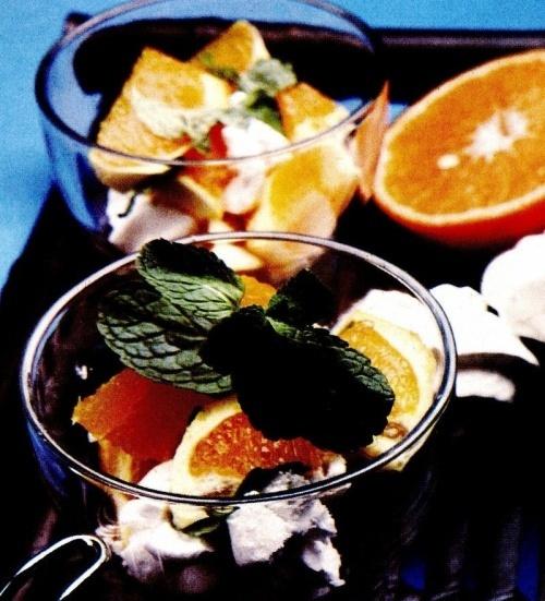 Cremă de portocale cu bezele
