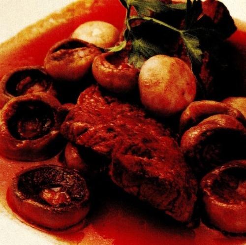 Mâncare de ciuperci cu vită
