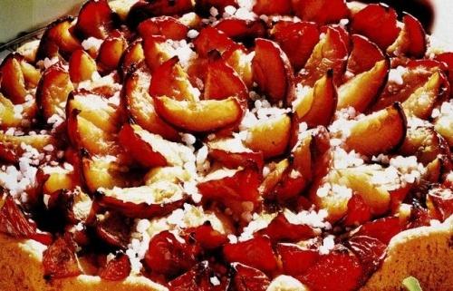 Prăjitură cu prune coapte