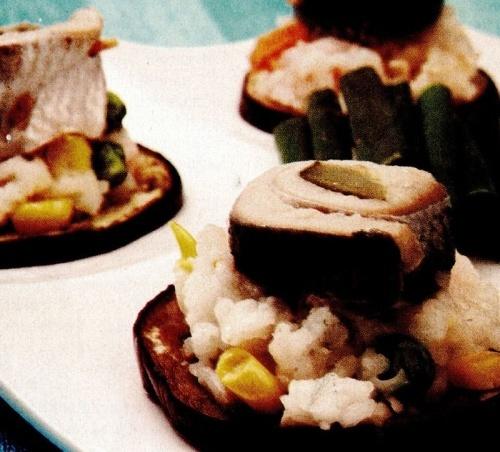 Rondele de vinete cu peşte