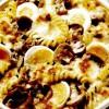 Spirale cu ciuperci şi ouă la cuptor