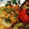 Portofele de pui cu garnitură de legume umplute