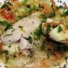 Ciorbă de dovlecei, cartofi si aripioare