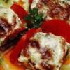 Plăcintă cu vinete, rosii si aluat de cartofi