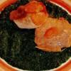 Friptură de viţel înăbuşită, cu piure de spanac