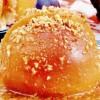 Piersici umplute cu cremă de vanilie