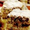 Prăjitură cu gem, nucă şi bezea