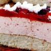 Tort cu cremă şi glazură de prune