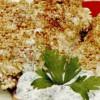 Aripioare de pui cu susan si sos de salată verde