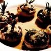 Ciuperci umplute cu branza cu mucegai si spanac