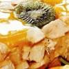 Piept de pui in aspic dulce-acrişor cu portocale si kiwi
