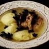 Supă de fazan cu găluşte de griş