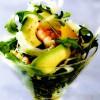 Cocktail de avocado cu fenicul şi crevete