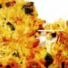 Plăcintă cu shirataki, crevete şi cîrnaţi