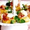 Rondele de cartofi dulci cu prosciutto şi maioneză