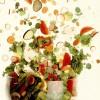 Salată de carnati si caşcaval cu ardei si porumb