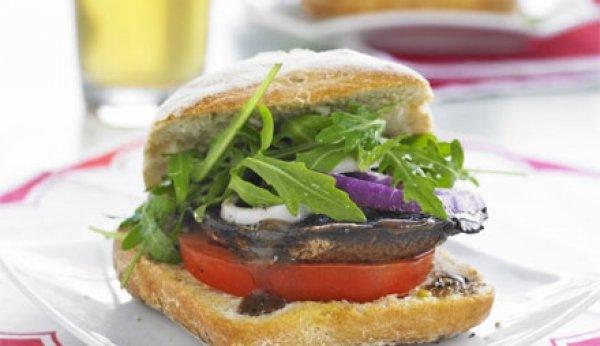 Retete de post: Burger cu ciuperci la grill
