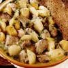 Mancare de cartofi cu muschiulet de porc