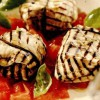 Pacheţele de vinete cu mozzarella afumată la grătar