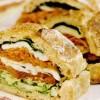Sandviş cu pui şi mozzarella