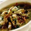 Supă de bob, mazăre, anghinare şi salată