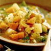 Supă de miez de dovleac, cartofi si praz