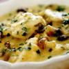 Supă de peşte cu ciuperci şi lămâie