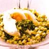 Salată de ouă cu ceapă verde