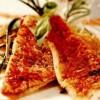 Fileuri de chefal cu mac şi spumă de ardei gras