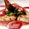 Muşchi de porc în sos de ceapă roşie