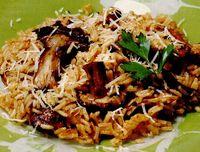 Ciuperci cu orez şi parmezan