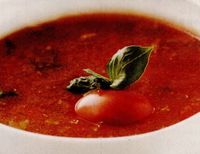 Supă de roşii cu orez si vin
