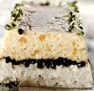 Terina de somon si anghila cu caviar