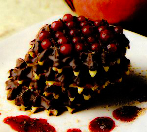 Gofre cu ciocolată si rodii