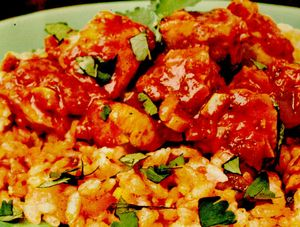 Pui thailandez cu sos de curry
