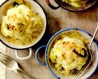 Conopidă cu brânză şi praz