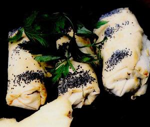 Pacheţele cu ananas şi şuncă