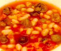 Supă de fasole cu castane
